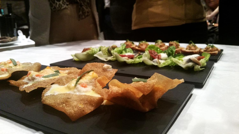 Pasta brickc con ensalada de Txangurro