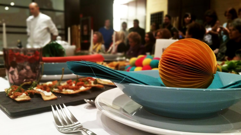 Detalle de la mesa informal decorada por Teresa Chamorro, de Petite Reunión