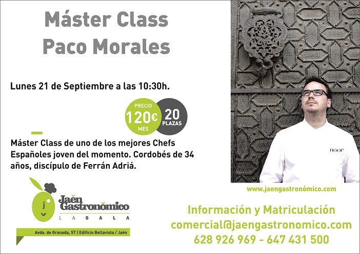cartel paco morales  máster class 2